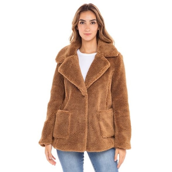 Sebby Collection M S Teddy Sherpa Coat Jacket